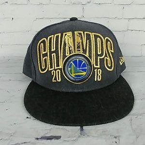 be007d02e48 Golden State Warrior New Era 2018 Champs Hat